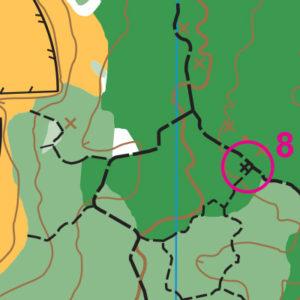Wilburton Park orienteering map sample