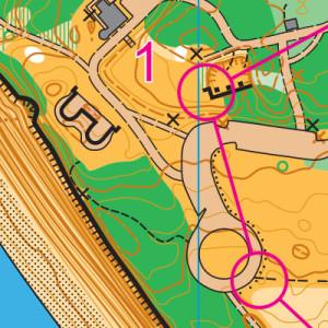 Fort Casey orienteering map sample