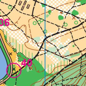 Fort Steilacoom orienteering map sample
