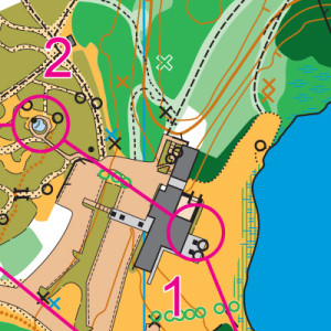 Lake Wilderness orienteering map sample