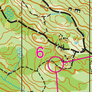 Lord Hill Park orienteering map sample