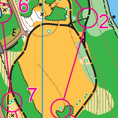 Luther Burbank Park orienteering map sample