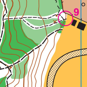 Madrona orienteering map sample