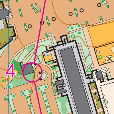 North Seattle College orienteering map sample