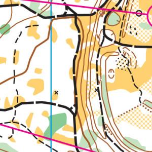 Riverside orienteering map sample