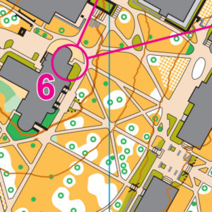 University of Washington orienteering map sample