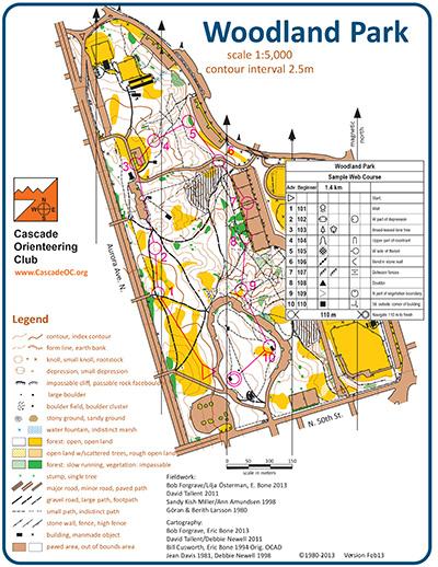 Woodland Park Cascade Orienteering Cascade Orienteering