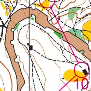 Woodland Park orienteering map sample