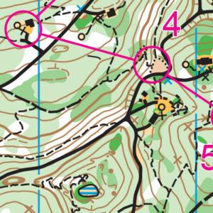 Camp River Ranch orienteering map sample