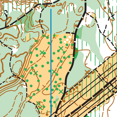 Lincoln Tree Farm orienteering map sample