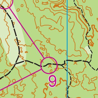 Putney Woods map sample